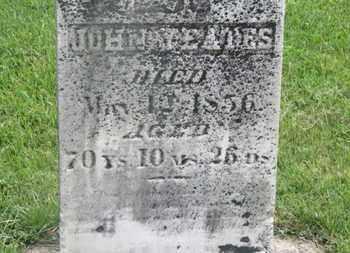 YEATES, JOHN - Delaware County, Ohio | JOHN YEATES - Ohio Gravestone Photos
