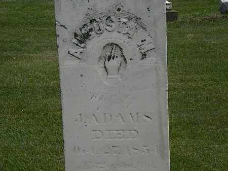 ADAMS, J. - Erie County, Ohio   J. ADAMS - Ohio Gravestone Photos