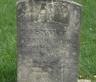 ADAMS, ESTHER - Erie County, Ohio | ESTHER ADAMS - Ohio Gravestone Photos