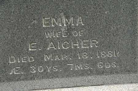 AICHER, EMMA - Erie County, Ohio | EMMA AICHER - Ohio Gravestone Photos