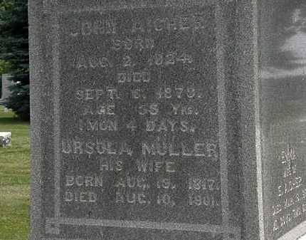 AICHER, JOHN - Erie County, Ohio | JOHN AICHER - Ohio Gravestone Photos