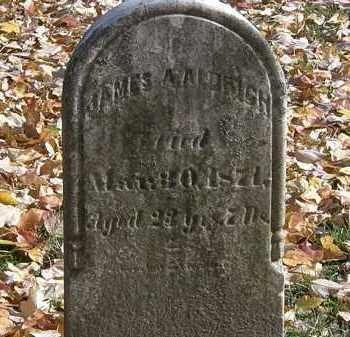 ALDRICH, JAMES A. - Erie County, Ohio   JAMES A. ALDRICH - Ohio Gravestone Photos