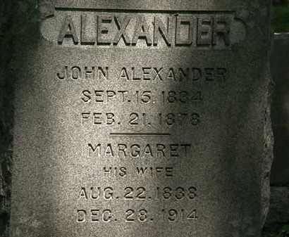 ALEXANDER, JOHN - Erie County, Ohio | JOHN ALEXANDER - Ohio Gravestone Photos
