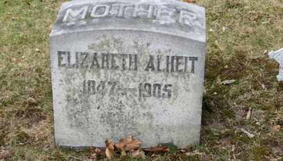 ALHEIT, ELIZABETH - Erie County, Ohio | ELIZABETH ALHEIT - Ohio Gravestone Photos