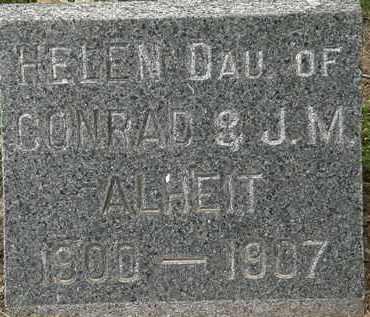 ALHEIT, HELEN - Erie County, Ohio   HELEN ALHEIT - Ohio Gravestone Photos