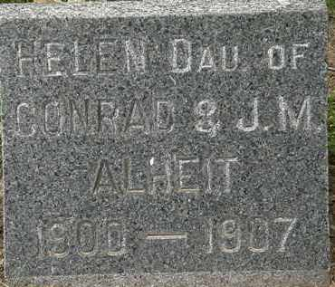 ALHEIT, HELEN - Erie County, Ohio | HELEN ALHEIT - Ohio Gravestone Photos