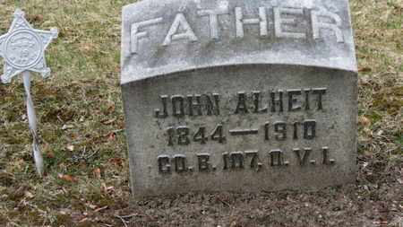 ALHEIT, JOHN - Erie County, Ohio | JOHN ALHEIT - Ohio Gravestone Photos