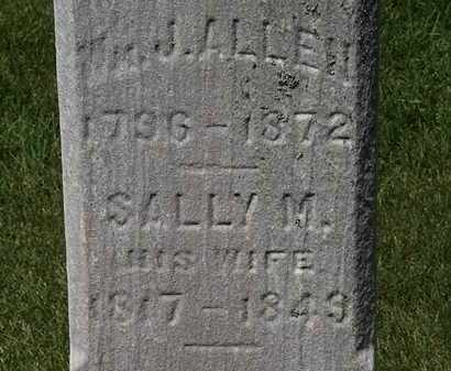 ALLEN, J. - Erie County, Ohio | J. ALLEN - Ohio Gravestone Photos