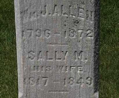 ALLEN, SALLY M. - Erie County, Ohio | SALLY M. ALLEN - Ohio Gravestone Photos
