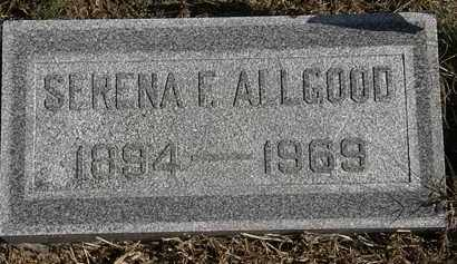 ALLGOOD, SERENA F. - Erie County, Ohio   SERENA F. ALLGOOD - Ohio Gravestone Photos
