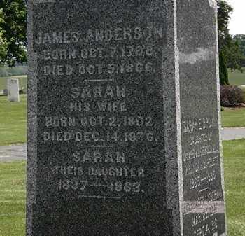 ANDERSON, SARAH - Erie County, Ohio | SARAH ANDERSON - Ohio Gravestone Photos