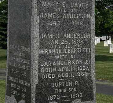 DAVEY ANDERSON, MARY E. - Erie County, Ohio | MARY E. DAVEY ANDERSON - Ohio Gravestone Photos