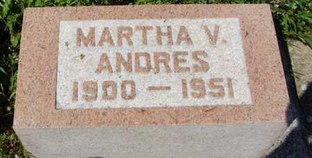 ANDRES, MARTHA - Erie County, Ohio | MARTHA ANDRES - Ohio Gravestone Photos