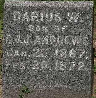 ANDREWS, DARIUS W. - Erie County, Ohio   DARIUS W. ANDREWS - Ohio Gravestone Photos