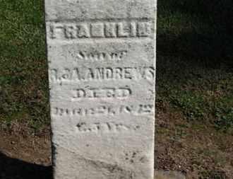 ANDREWS, FRANKLIN - Erie County, Ohio | FRANKLIN ANDREWS - Ohio Gravestone Photos