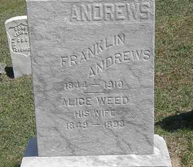 WEED ANDREWS, ALICE - Erie County, Ohio   ALICE WEED ANDREWS - Ohio Gravestone Photos