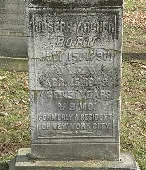 ARCHER, JOSEPH - Erie County, Ohio | JOSEPH ARCHER - Ohio Gravestone Photos