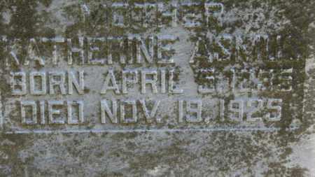 ASMUS, KATHERINE - Erie County, Ohio | KATHERINE ASMUS - Ohio Gravestone Photos