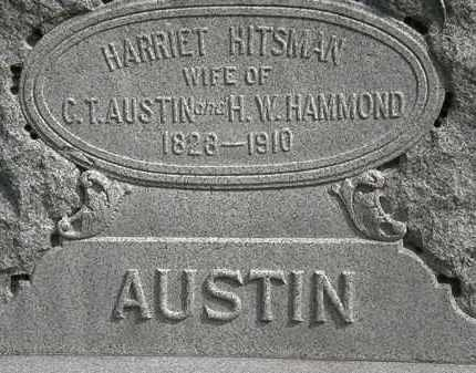 HITSMAN AUSTIN-HAMMOND, HARRIET - Erie County, Ohio | HARRIET HITSMAN AUSTIN-HAMMOND - Ohio Gravestone Photos