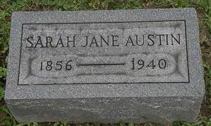 AUSTIN, SARAH JANE - Erie County, Ohio   SARAH JANE AUSTIN - Ohio Gravestone Photos