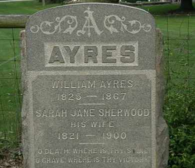 SHERWOOD AYRES, SARAH JANE - Erie County, Ohio | SARAH JANE SHERWOOD AYRES - Ohio Gravestone Photos