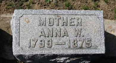 BACON, ANNA W. - Erie County, Ohio | ANNA W. BACON - Ohio Gravestone Photos