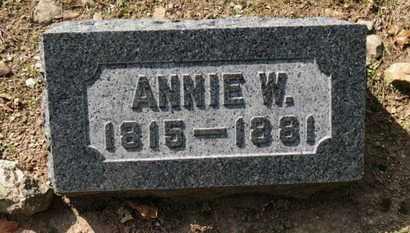 BACON, ANNIE W. - Erie County, Ohio   ANNIE W. BACON - Ohio Gravestone Photos