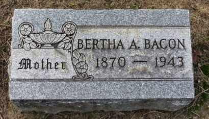 BACON, BERTHA A. - Erie County, Ohio | BERTHA A. BACON - Ohio Gravestone Photos