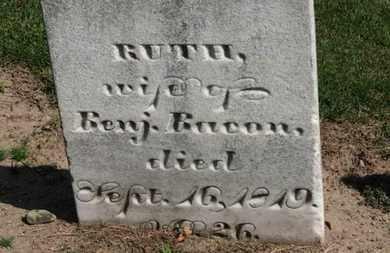 BACON, RUTH - Erie County, Ohio | RUTH BACON - Ohio Gravestone Photos