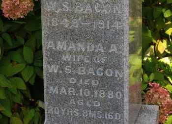 BACON, AMANDA A. - Erie County, Ohio | AMANDA A. BACON - Ohio Gravestone Photos
