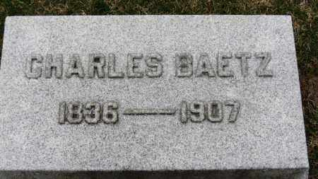 BAETZ, CHARLES - Erie County, Ohio   CHARLES BAETZ - Ohio Gravestone Photos
