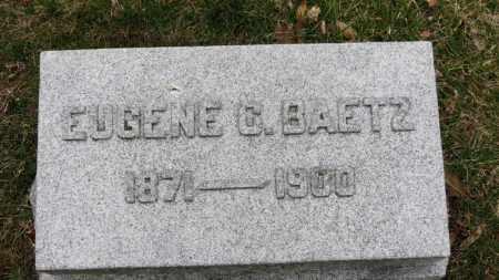 BAETZ, EUGENE C. - Erie County, Ohio | EUGENE C. BAETZ - Ohio Gravestone Photos