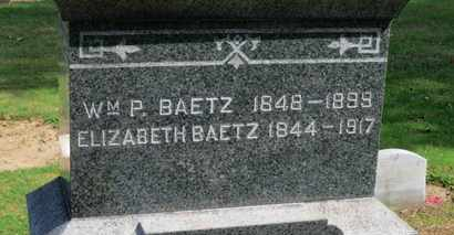 BAETZ, WM. P. - Erie County, Ohio | WM. P. BAETZ - Ohio Gravestone Photos
