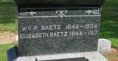 BAETZ, ELIZABETH - Erie County, Ohio | ELIZABETH BAETZ - Ohio Gravestone Photos