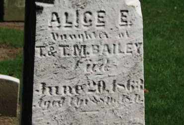 BAILEY, T.M. - Erie County, Ohio | T.M. BAILEY - Ohio Gravestone Photos