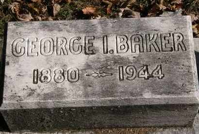 BAKER, GEORGE I - Erie County, Ohio | GEORGE I BAKER - Ohio Gravestone Photos