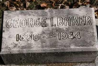 BAKER, GEORGE I - Erie County, Ohio | GEORGE I BAKER - Ohio Gravestone Photos