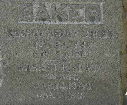KLADY BAKER, HARRIET E. - Erie County, Ohio   HARRIET E. KLADY BAKER - Ohio Gravestone Photos