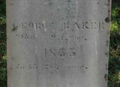 BAKER, GEORGE - Erie County, Ohio   GEORGE BAKER - Ohio Gravestone Photos