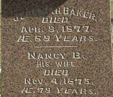 BAKER, NAMCY  B. - Erie County, Ohio | NAMCY  B. BAKER - Ohio Gravestone Photos