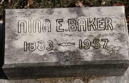 BAKER, NINA E. - Erie County, Ohio   NINA E. BAKER - Ohio Gravestone Photos