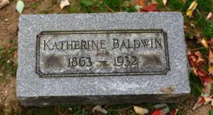 BALDWIN, KATHERINE - Erie County, Ohio   KATHERINE BALDWIN - Ohio Gravestone Photos