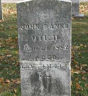 BANKS, JOHN - Erie County, Ohio | JOHN BANKS - Ohio Gravestone Photos