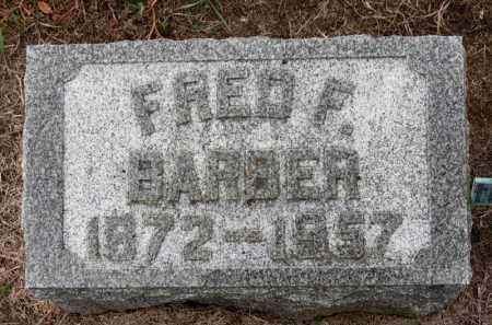 BARBER, FRED F. - Erie County, Ohio | FRED F. BARBER - Ohio Gravestone Photos