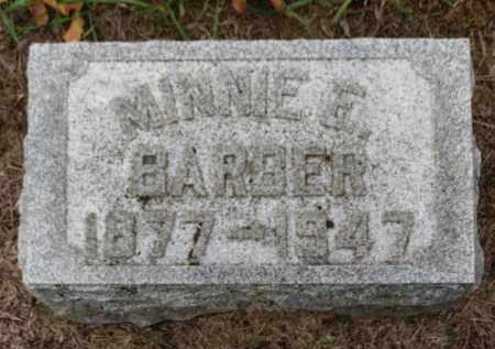 BARBER, MINNIE E. - Erie County, Ohio   MINNIE E. BARBER - Ohio Gravestone Photos