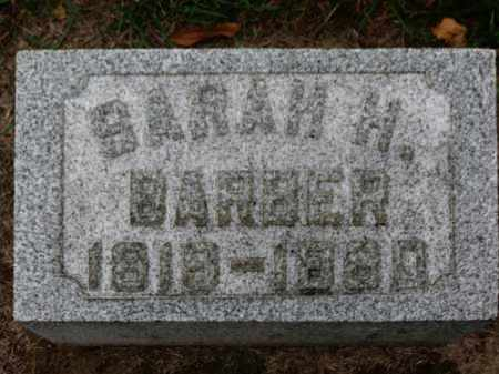 BARBER, SARAH H. - Erie County, Ohio   SARAH H. BARBER - Ohio Gravestone Photos