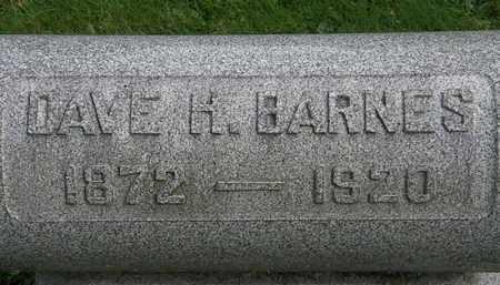 BARNES, DAVE H. - Erie County, Ohio   DAVE H. BARNES - Ohio Gravestone Photos