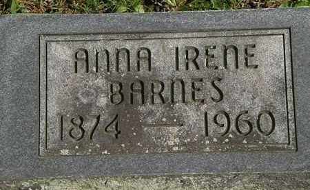 BARNES, NNA IRENE - Erie County, Ohio | NNA IRENE BARNES - Ohio Gravestone Photos