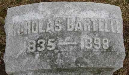 BARTELLE, NICHOLAS - Erie County, Ohio | NICHOLAS BARTELLE - Ohio Gravestone Photos
