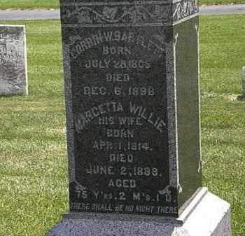 WILLIE BARTLETT, MARCETTA - Erie County, Ohio | MARCETTA WILLIE BARTLETT - Ohio Gravestone Photos